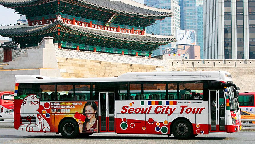 Go around the city in a tour bus