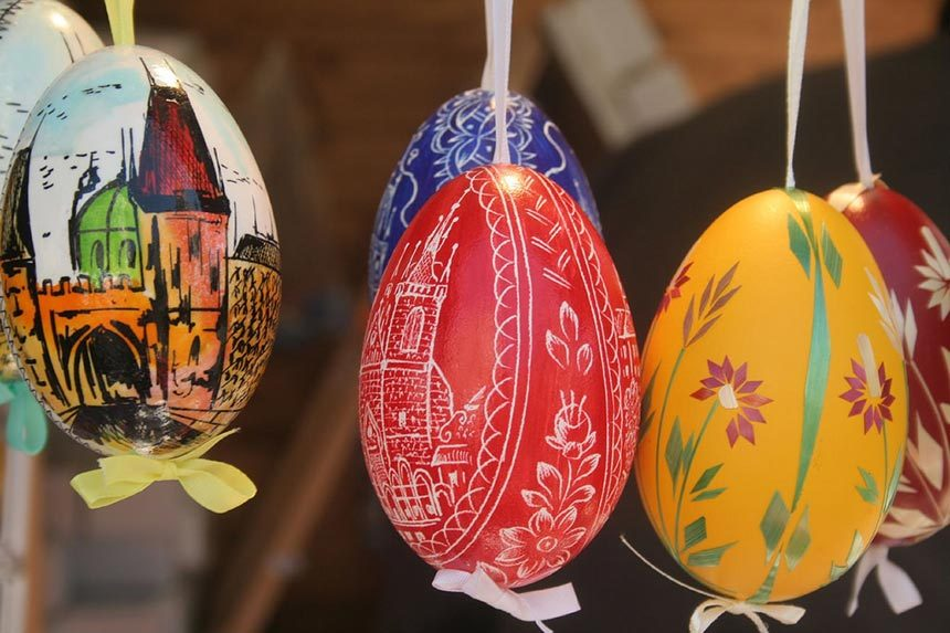 Czech Easter Eggs (hand-etched eggs)